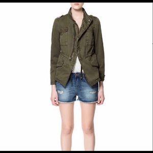 EUC: Zara Basic Military Style Utility Jacket